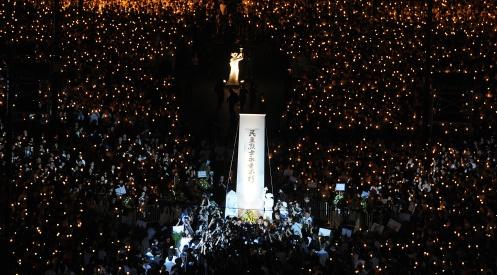 115215167 - В Гонконге вспоминают погибших на Тяньаньмэнь в 1989 году