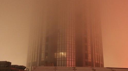 135168169 0 - Города Китая окутал таинственный жёлтый туман