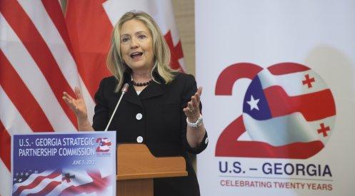 145744484 - Клинтон прибыла с визитом в Батуми