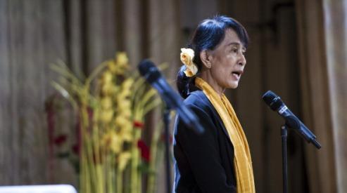 146470938 - Аун Сан Су Чжи в Норвегии приветствуют тысячи людей