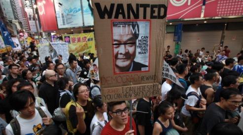 1475163481 - Гонконг: инаугурация обернулась массовыми протестами