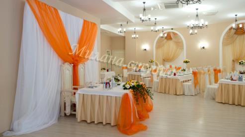 2 320 - Оформление свадебного зала тканью