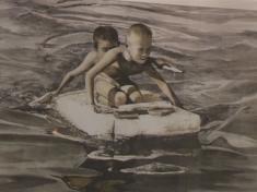 Художники написали картины грязью ради спасения рек
