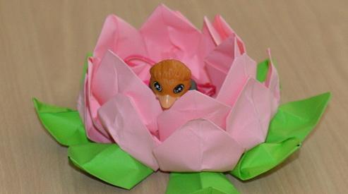 origami - Лотосы и махаонов из бумаги научились делать дети Приморья