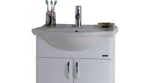 tumba dlja vanny flaj 60 belyi 600x600 - Виды тумб с раковиной для ванной комнаты