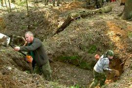 Волонтёры ищут останки солдат Второй мировой