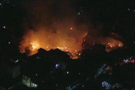 Крупный пожар уничтожил трущобы в Сан-Паулу