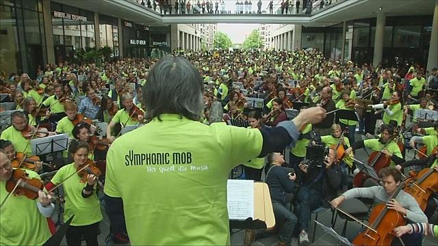 Симфонический концерт состоялся в торговом центре