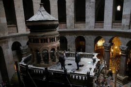 В Иерусалиме началось укрепление Гроба Господня