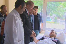 Эрдоган навестил пострадавших от взрыва в Стамбуле