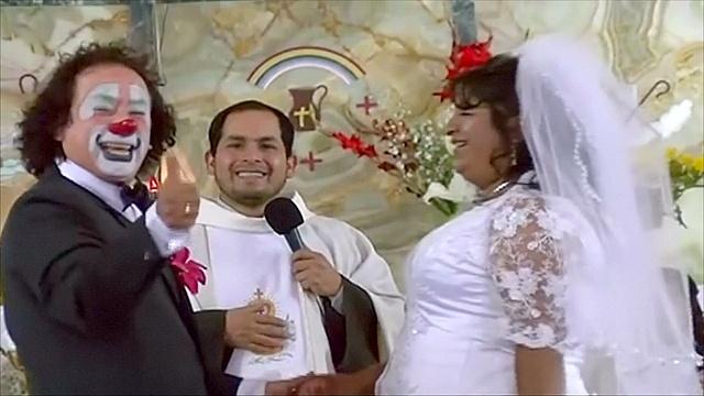 Перу: как женятся клоуны