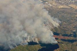 Южную Калифорнию охватили лесные пожары