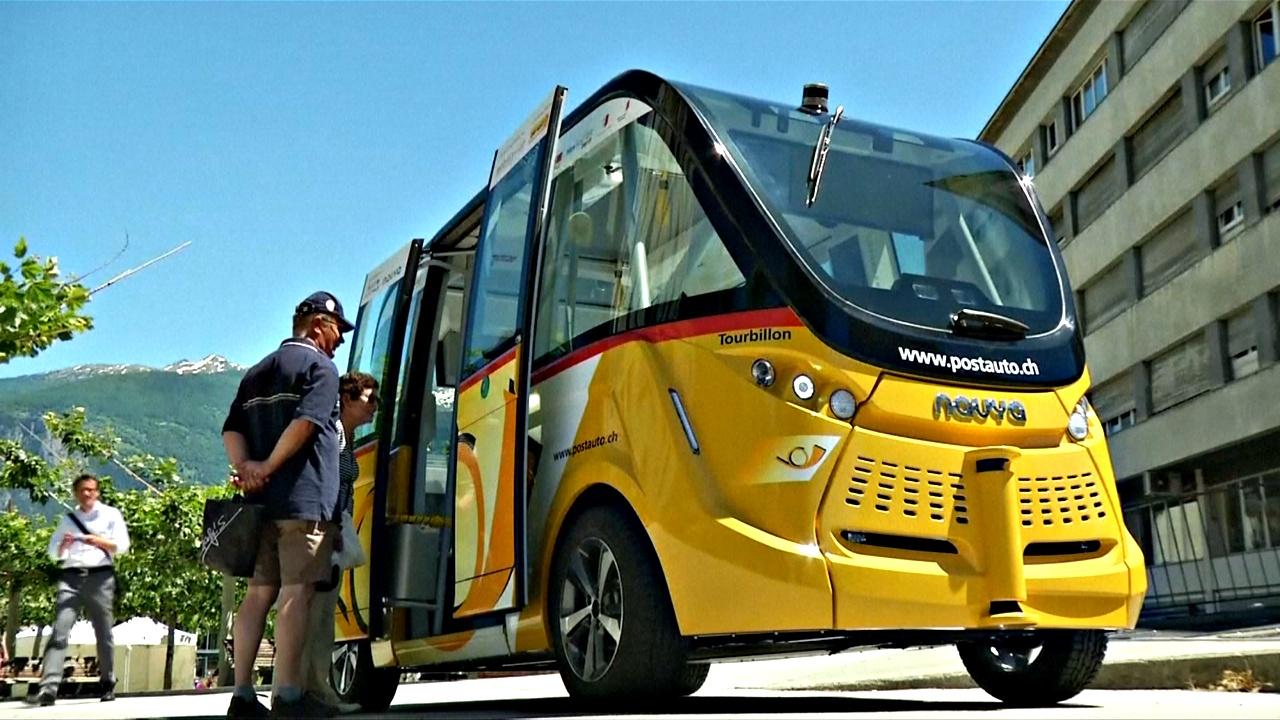 В Швейцарии запустили автобусы-беспилотники