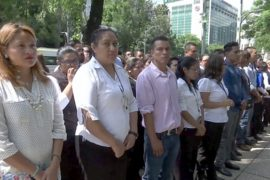 В Мехико эвакуировали людей из-за землетрясения