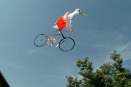 Тайванец сделал воздушного змея в виде велосипеда
