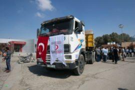 Турецкую гумпомощь доставили в Газу через Израиль