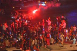 Беспорядки в Париже после финала Евро-2016