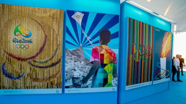 В Рио представили плакаты Олимпийских игр