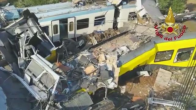 Ж/д-катастрофа в Италии: число жертв выросло до 27