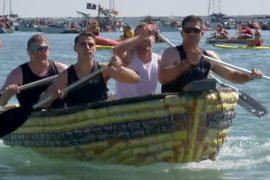 В Австралии прошли гонки на лодках из пивных банок