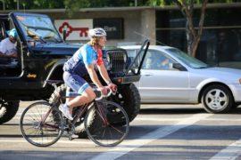 Едем на велосипеде по городу