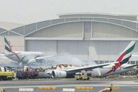Жёсткая посадка боинга в ОАЭ: погиб пожарный