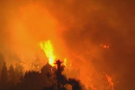 Один из Канарских островов охвачен огнём