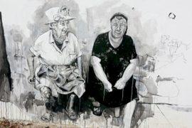 Граффити в деревне: бабушка рядом с Елизаветой II