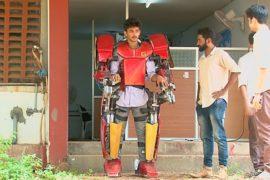 Индийский студент сделал дешёвый экзоскелет