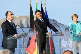 Меркель, Олланд и Ренци обсуждают проблемы Евросоюза