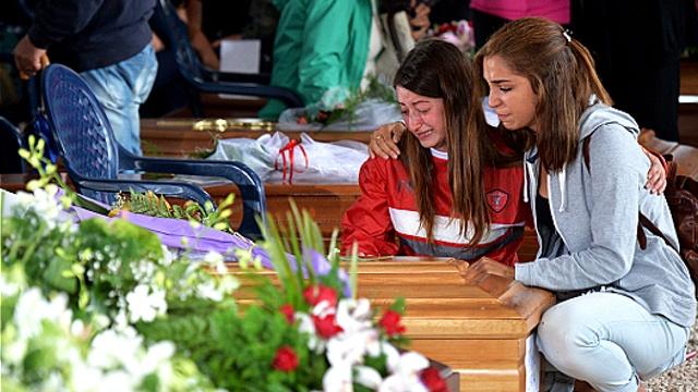 В Италии хоронят погибших от землетрясения