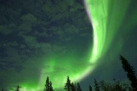 Северное сияние озарило небо Финляндии