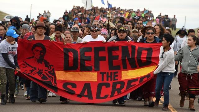 Протесты против строительства нефтепровода охватили 30 штатов США