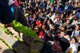 Протест фермеров: в Буэнос-Айресе бесплатно раздают овощи