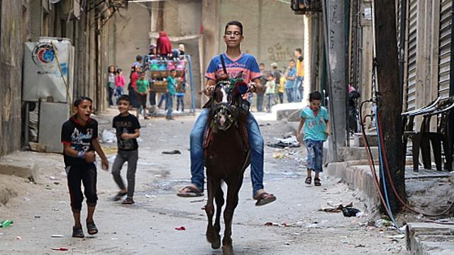 Жители Алеппо наслаждаются редким миром