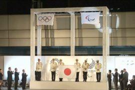 В Токио подняли флаги Олимпийских и Паралимпийских игр