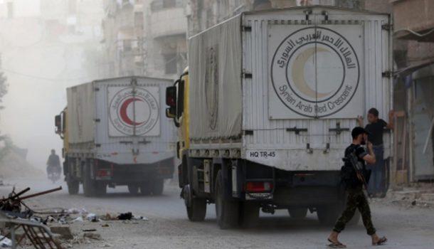 Гуманитарная помощь доставлена вчетыре осажденных города Сирии