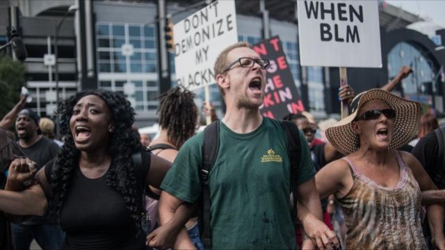 Протесты в Шарлотте продолжаются