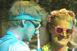 Более 12 000 человек участвовали в «Красочном забеге» в Лозанне