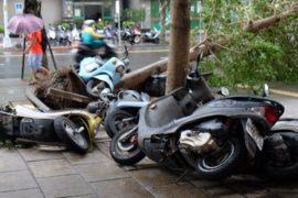 Тайбэй: последствия тайфуна