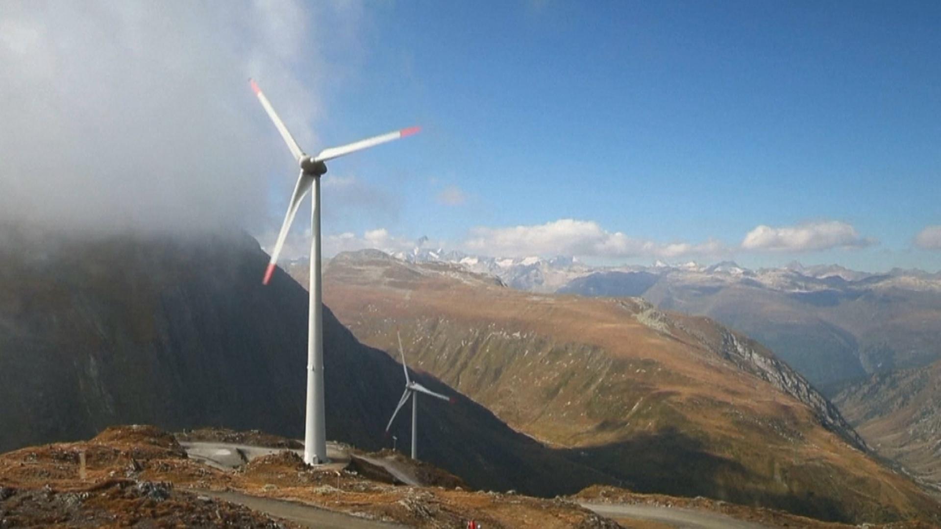 Открылся самый высокорасположенный ветропарк Европы