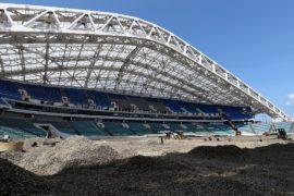 Олимпийский стадион в Сочи обновляют перед ЧМ-2018