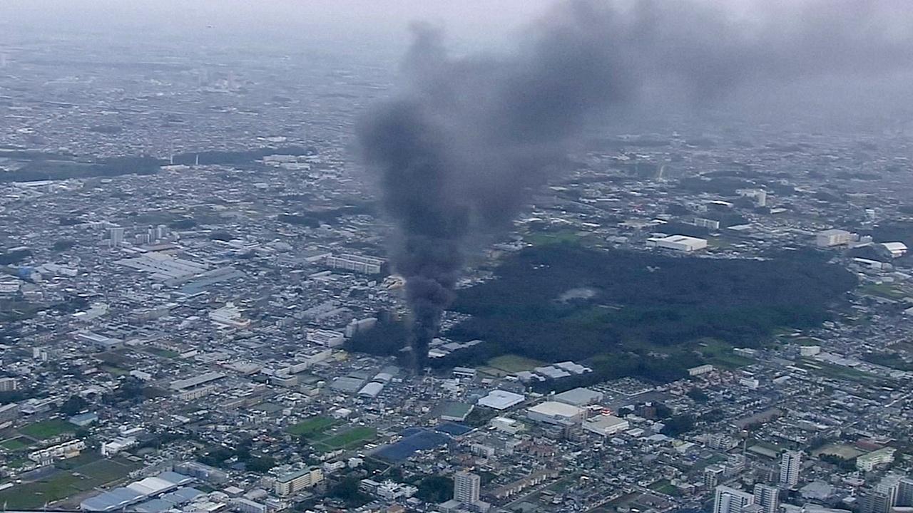 Часть Токио осталась без света из-за пожара