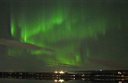 Рованиеми: захватывающее северное сияние сняли на видео