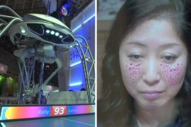Выставка в Японии: робот-тренер по теннису и «умное» зеркало