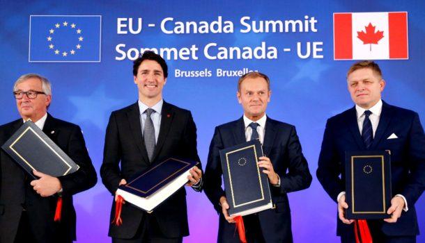ЕС иКанада подписали соглашение освободной торговле
