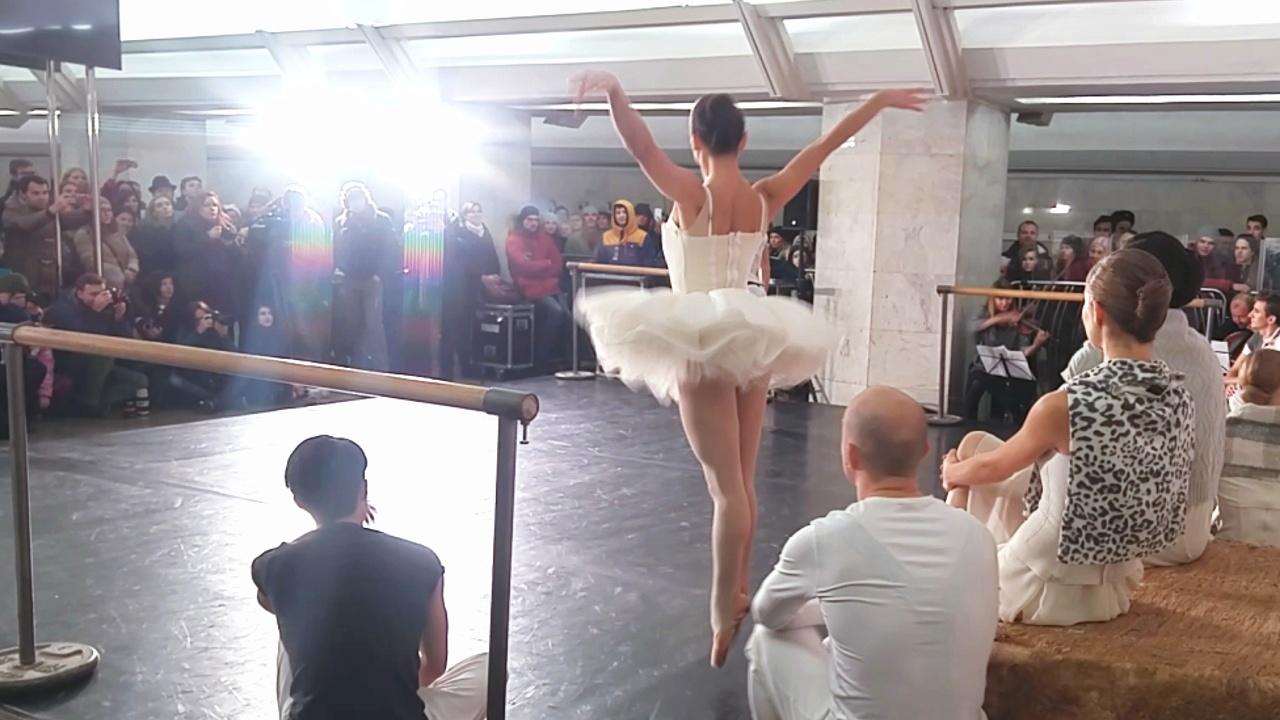 Балет спустился в метро Москвы: акция «Ночь искусств»
