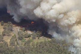 Лесной пожар угрожает пригороду Сиднея