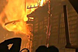 500 семей остались бездомными после пожара в трущобах Лимы