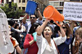 Боливийцы протестуют из-за нехватки воды